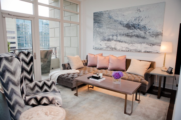 The living room of Julia Wong's home
