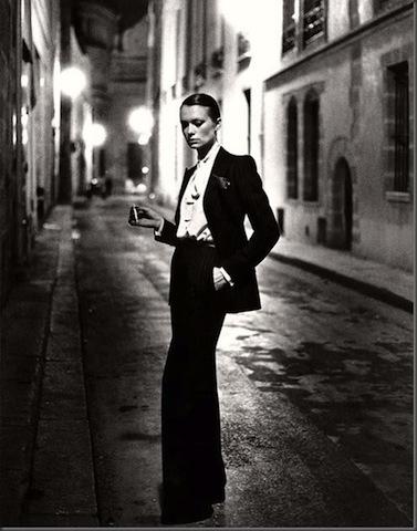 Black and white fashion photograph