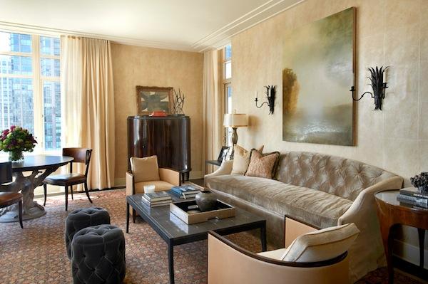 A lobby at the Ritz Carlton residences