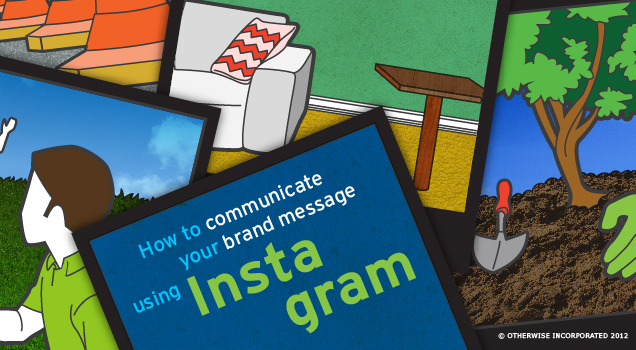 """Graphic reads: """"how to communicate your brand message using instagram"""""""