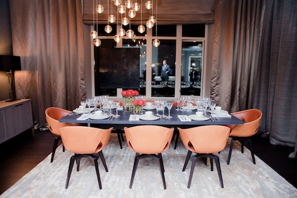 A dining room at the Ritz Carlton-Residences