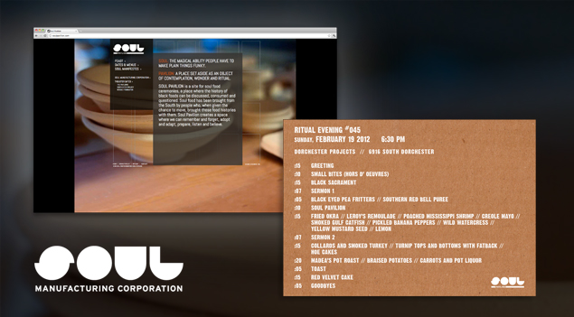 The website design for Soul Manufacturing Corporation