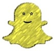 The yellow Snapchat ghost icon, with a winking face