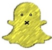 The yellow Snapchat ghost icon, with an X for a mouth