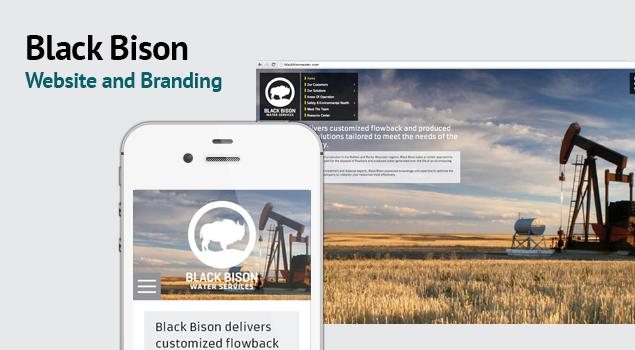 Black Bison website and branding