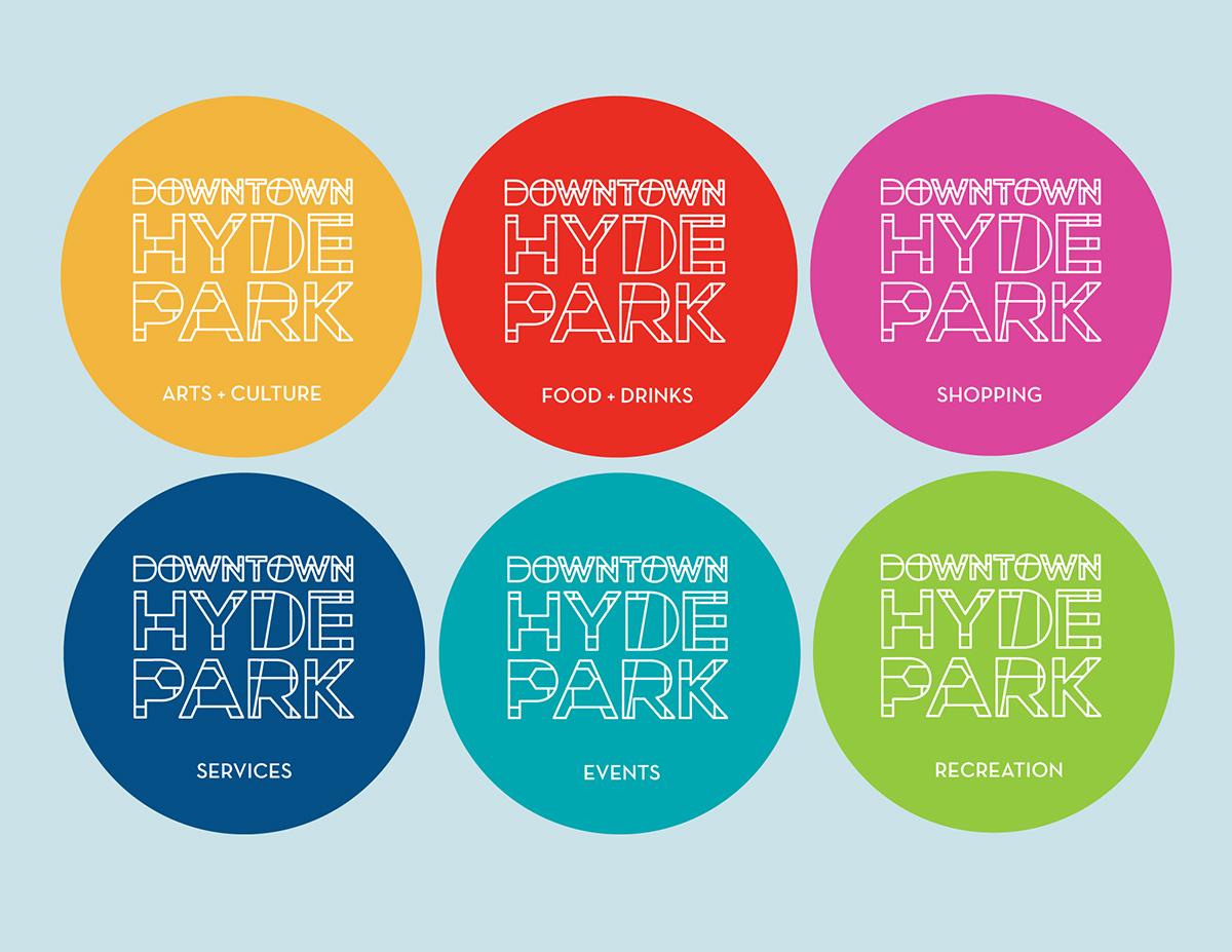 Downtown Hyde Park Badges