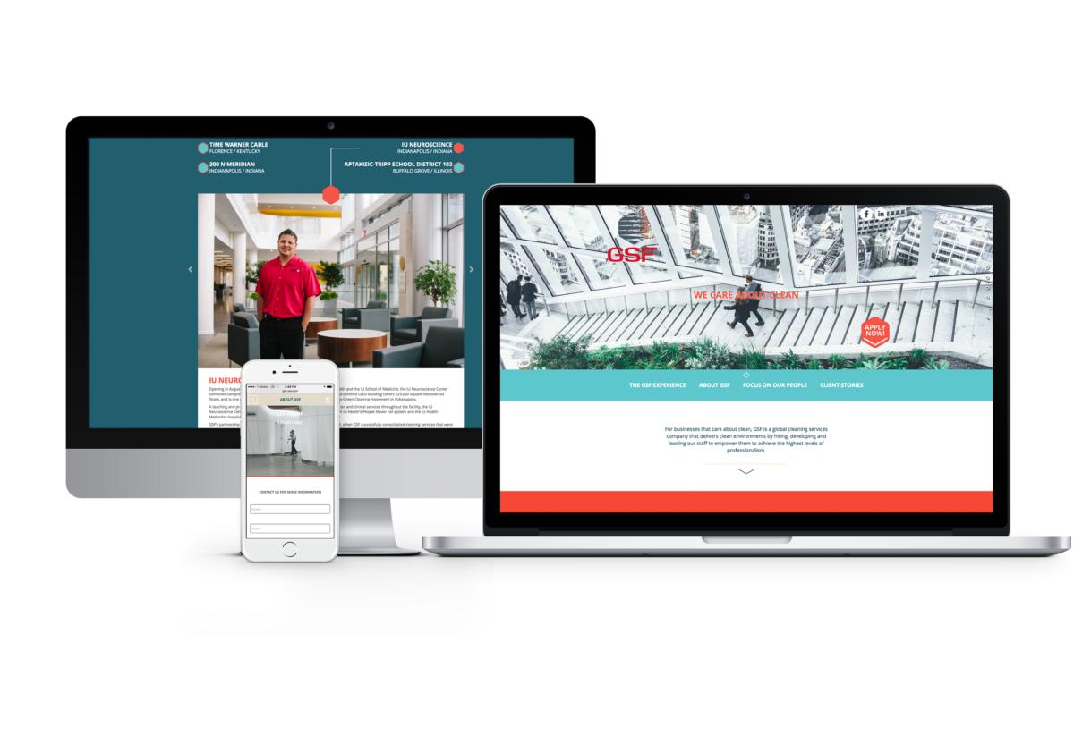 Website design for GSF USA