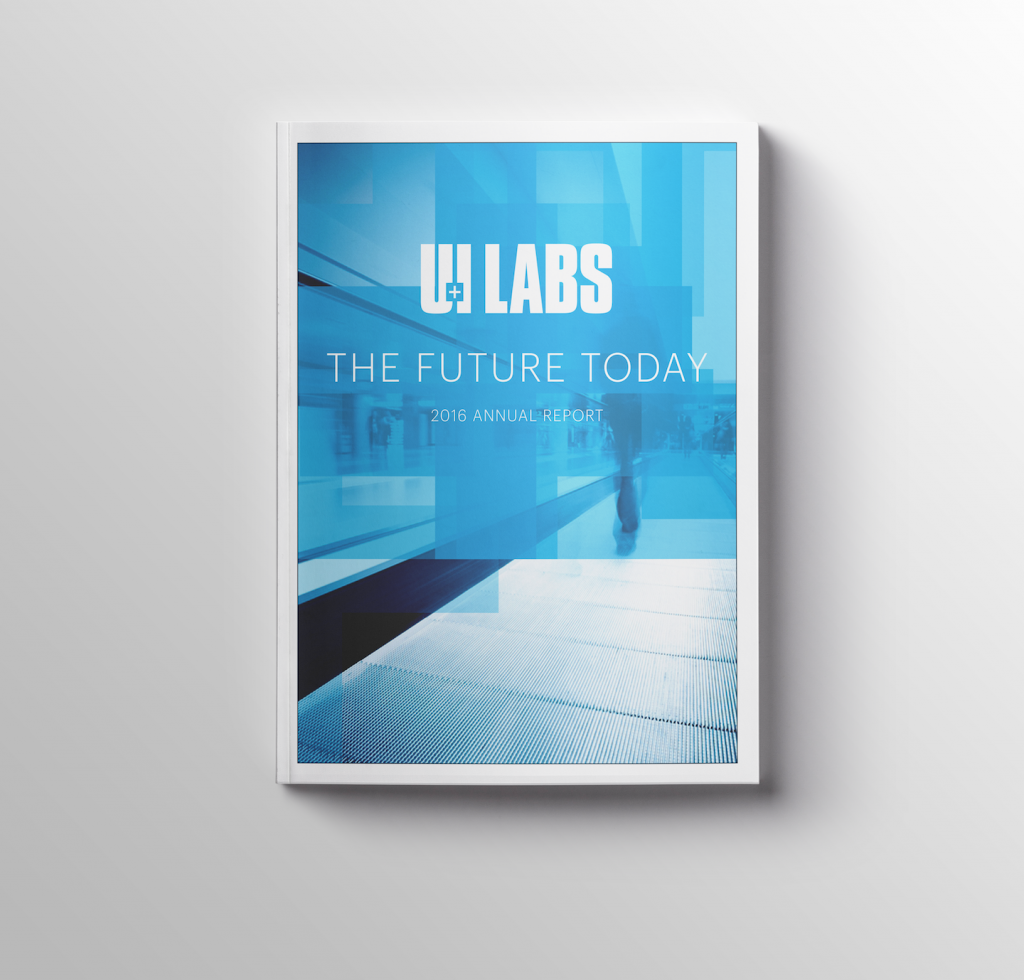 """the UI Labs 2016 annual report with the title """"The Future Today"""""""