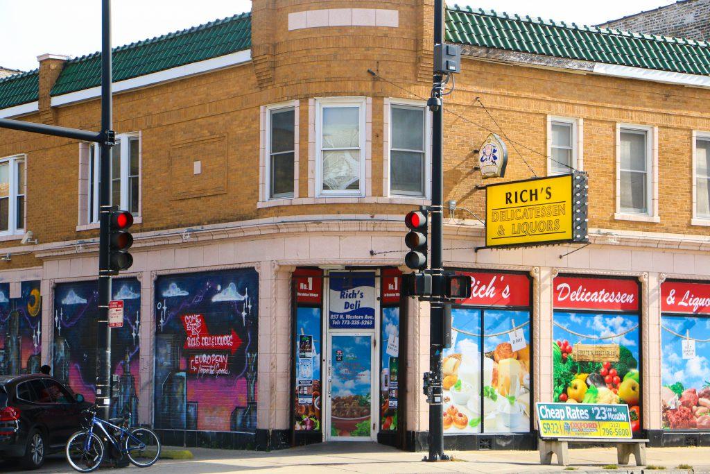 Exterior view of Rich's Delicatessen & Liquors