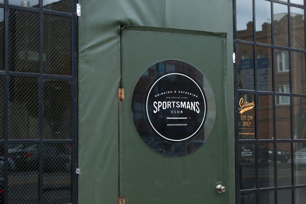 Exterior view of Sportman's Club bar