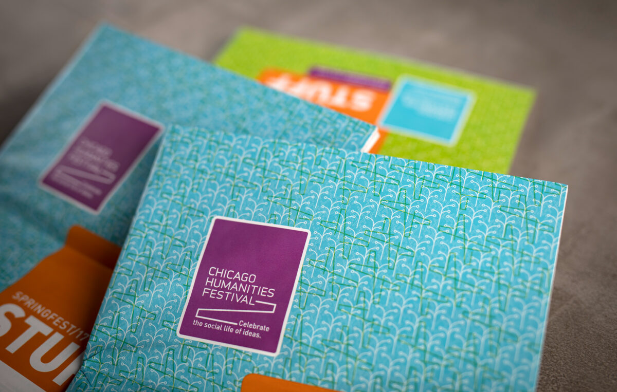 Collateral kit design for Chicago Humanities Festival