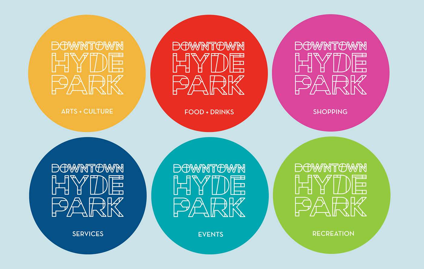 Logo design for Downtown Hyde Park