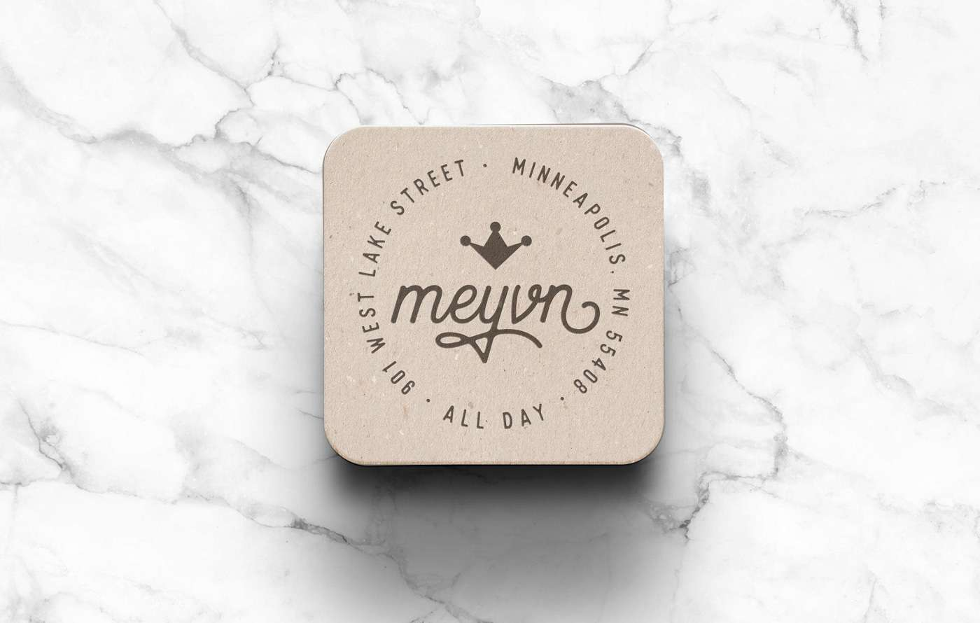 Coaster design for Meyvn restaurant