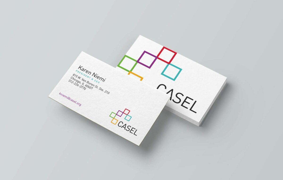 Business card design for CASEL