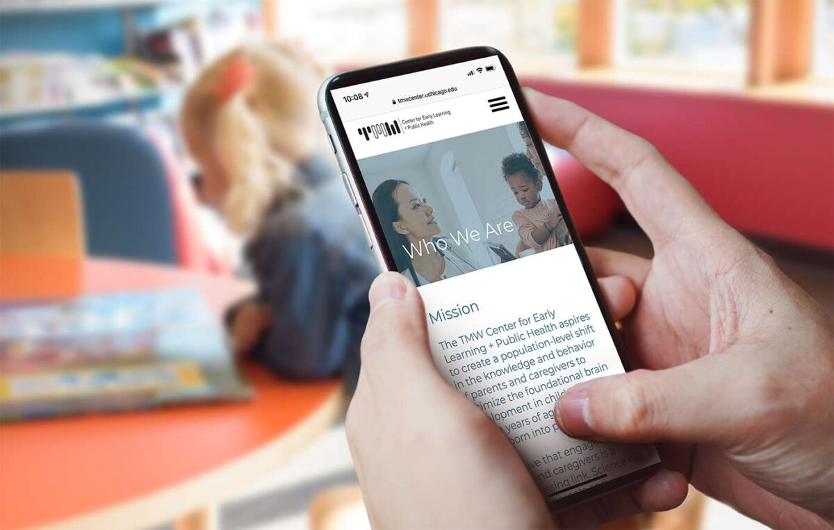 Mobile website design for Thirty Million Words
