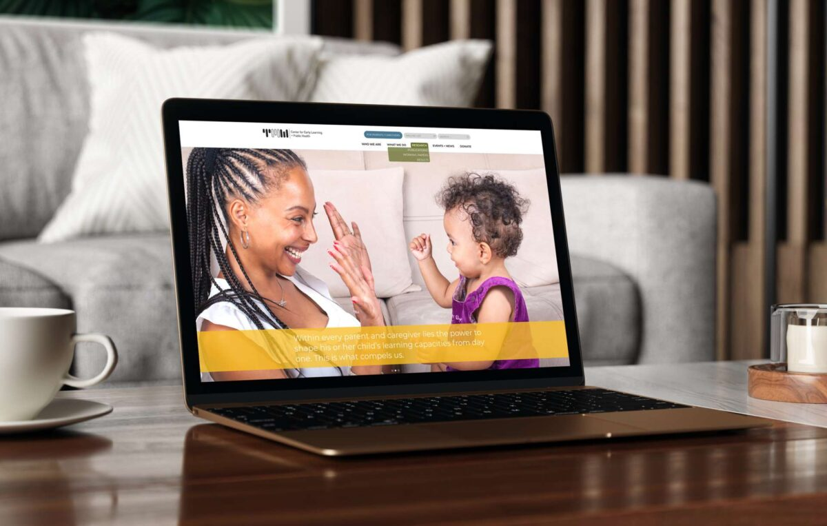 Website design for Thirty Million Words