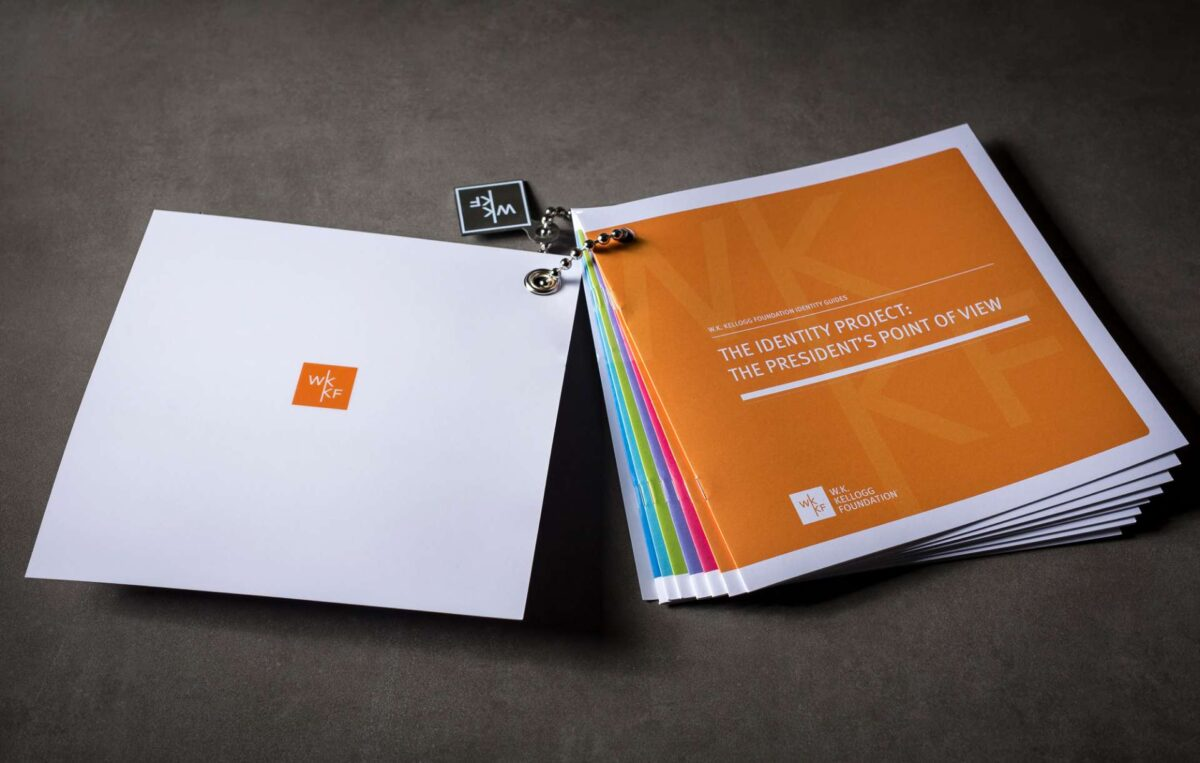 Identity guide designed for WK Kellogg Foundation rebranding