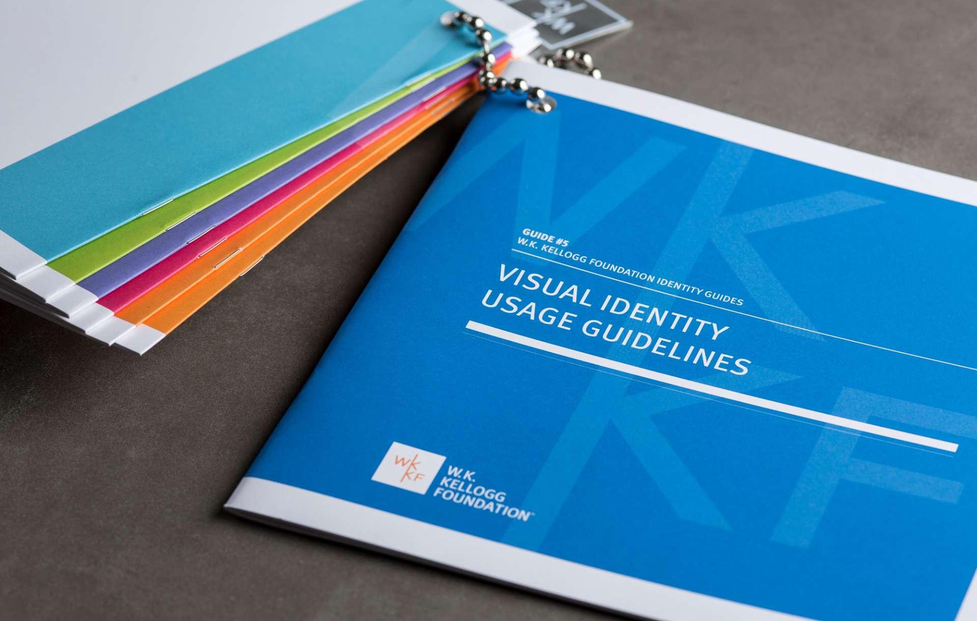 Identity guide designed for WK Kellogg Foundation rebranding