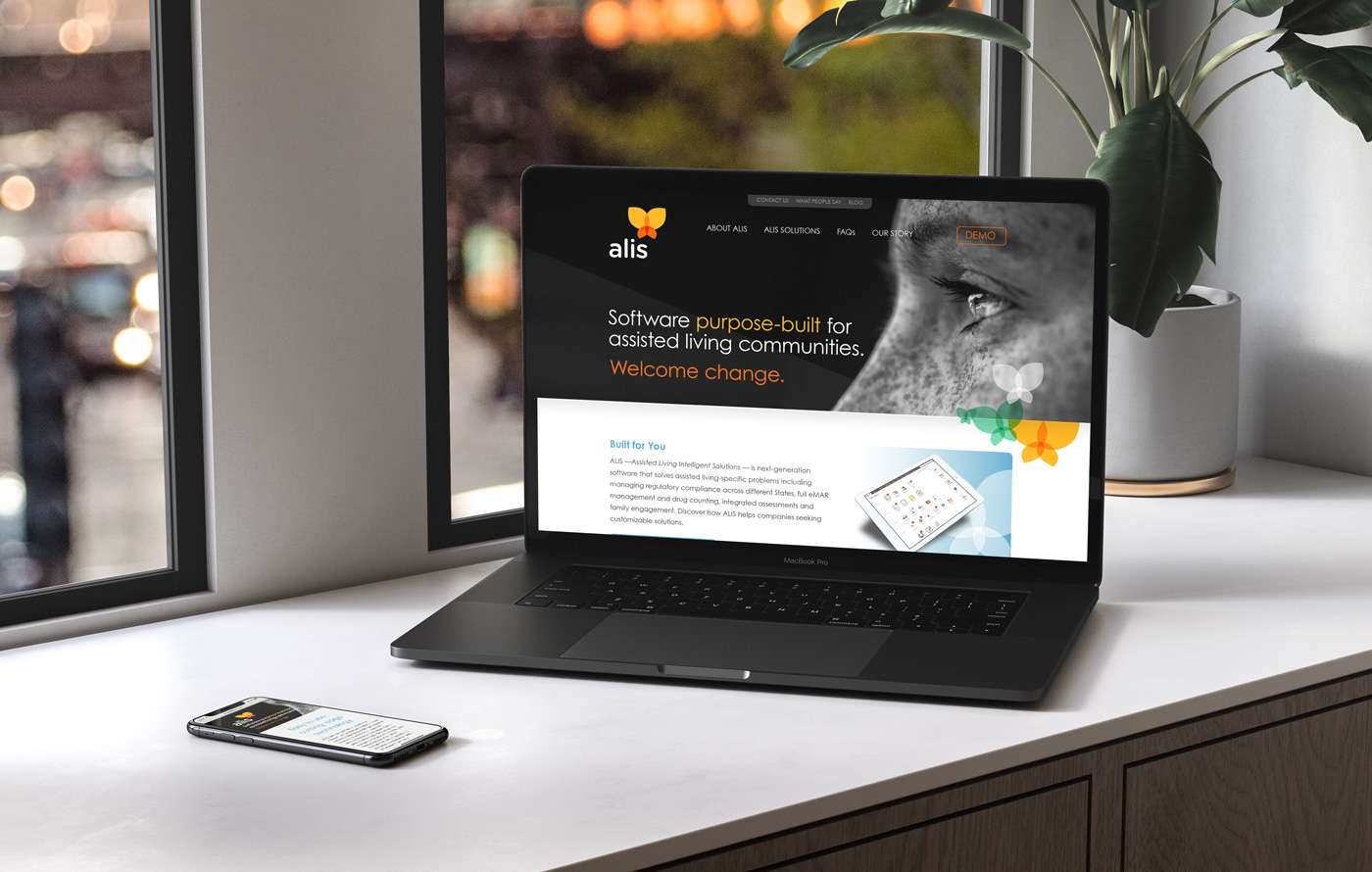 Mobile website design for ALIS