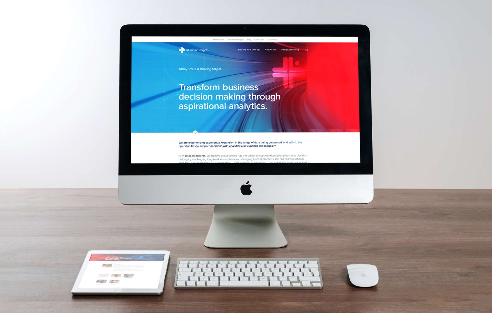 Website design for In4mation Insights