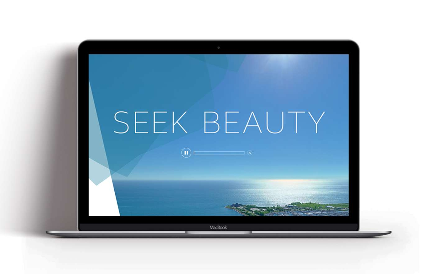 Website designed for 1000M, with tagline Seek Beauty and playable audio