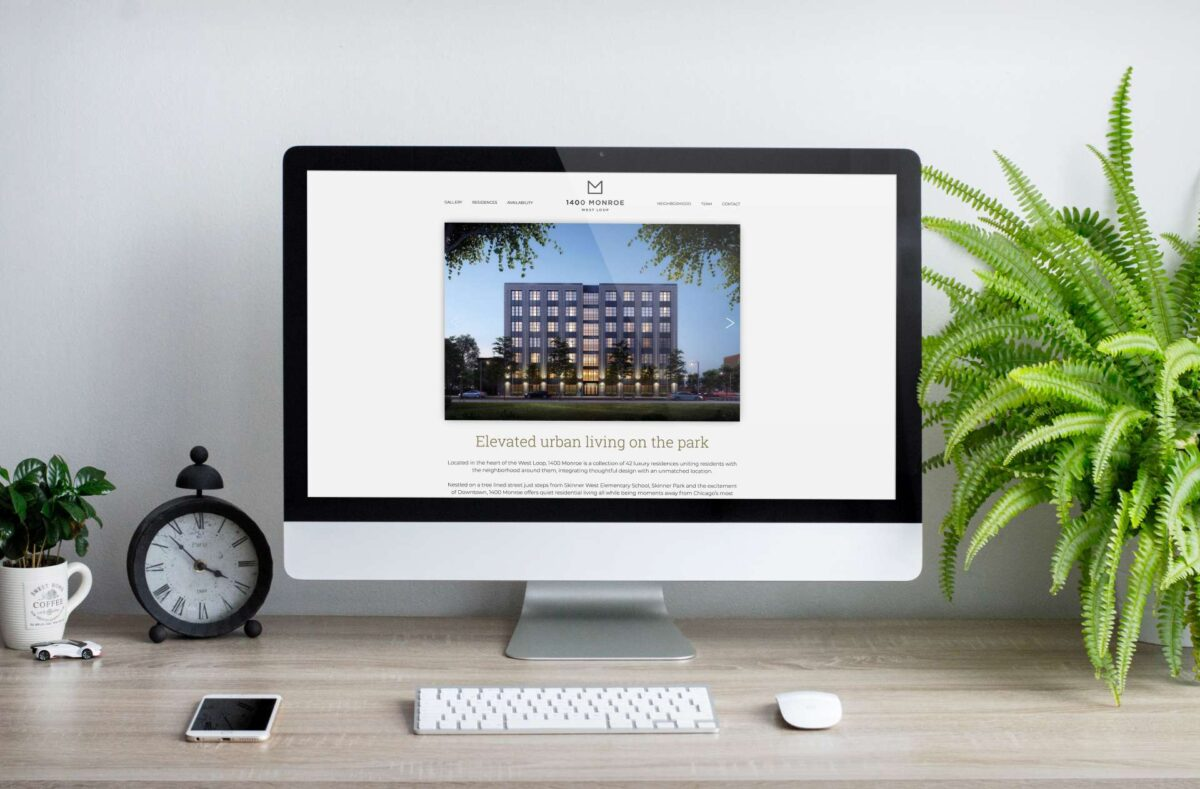 Website design for real estate brand 1400 Monroe