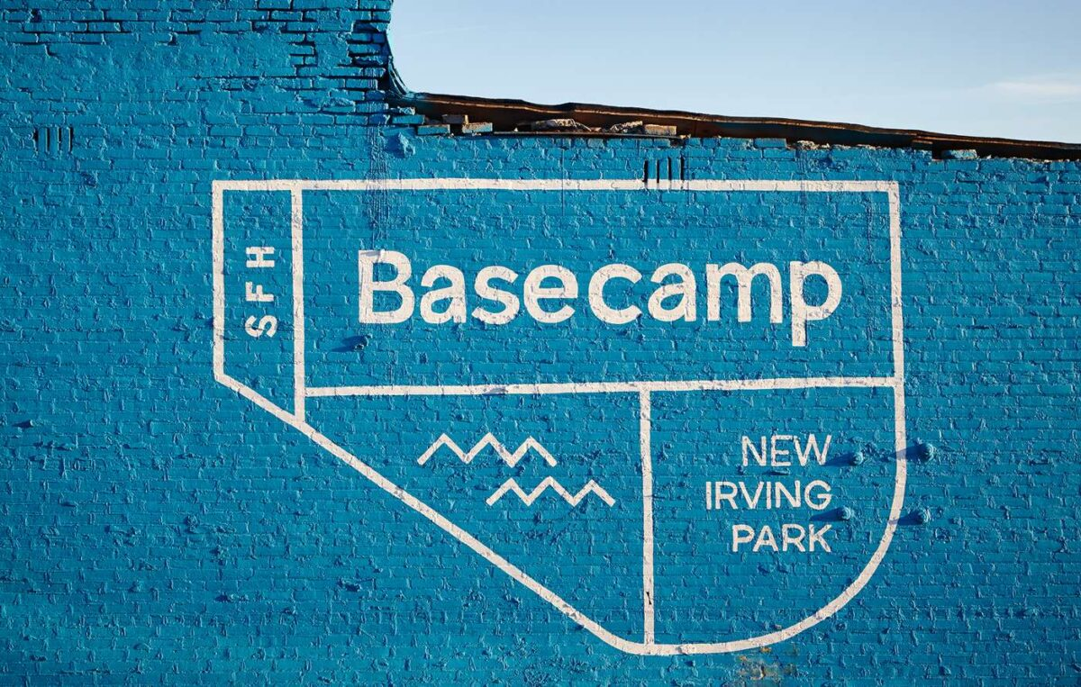 Outdoor advertising for Chicago real estate brand Basecamp