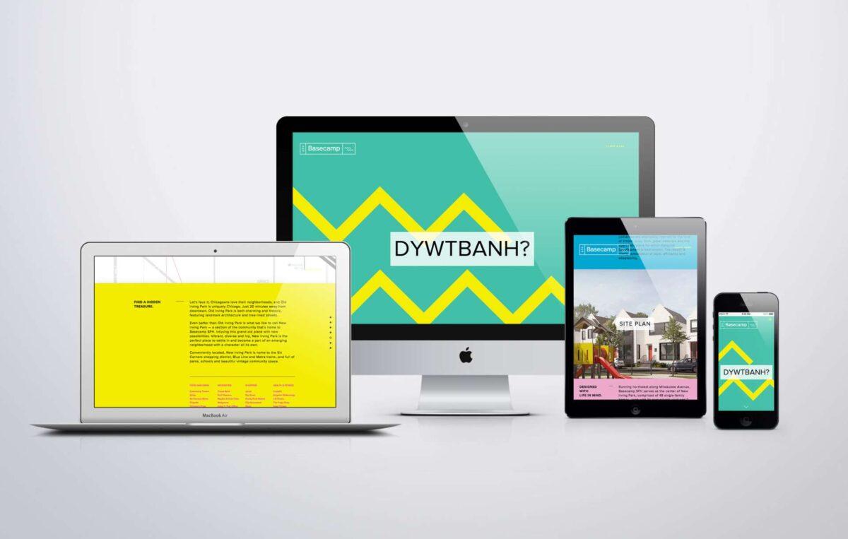 Website design for chicago real estate brand Basecamp