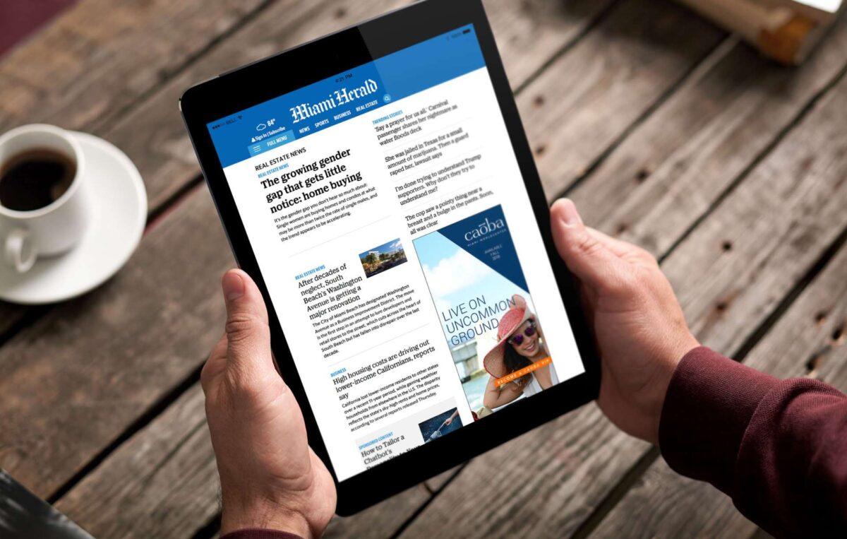 Digital advertisement design for Caoba