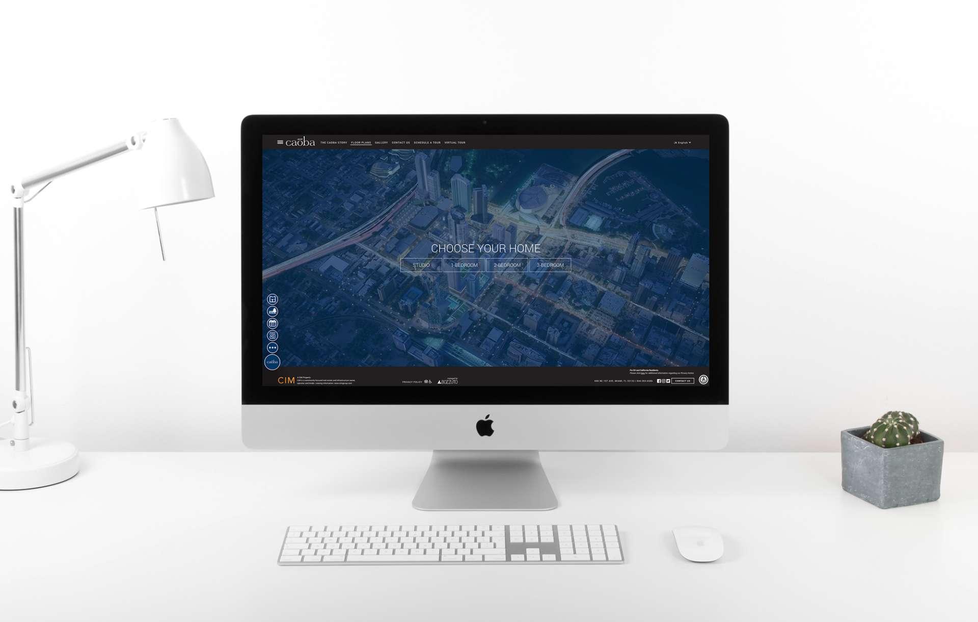 Website design for Caoba displayed on a desktop