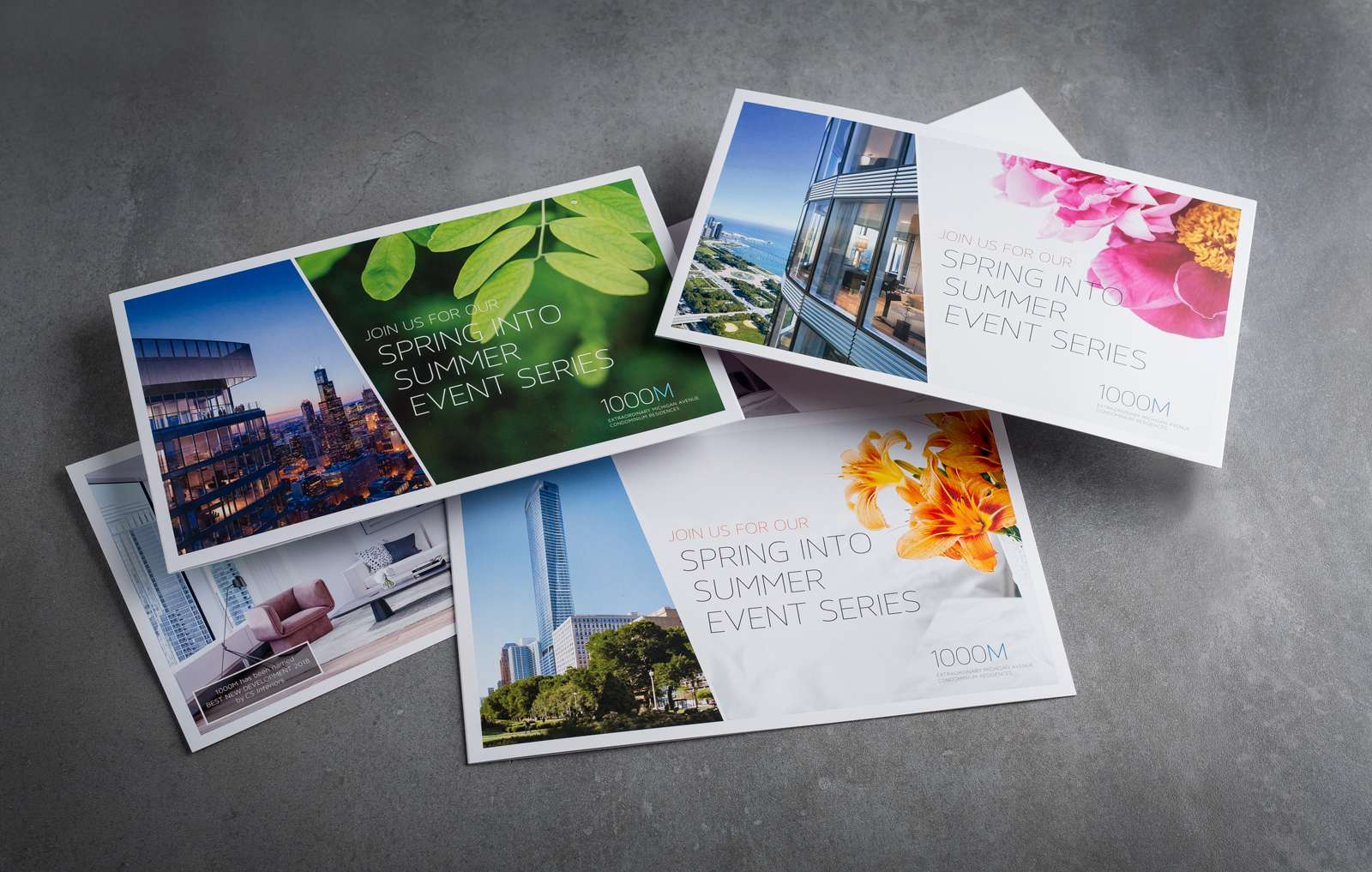 Direct mail advertisement designed for 1000M with the Hello Beautiful creative campaign