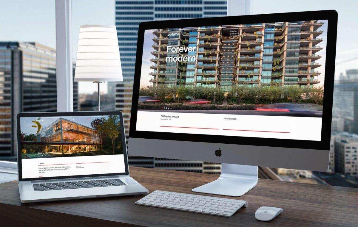 Website design for Chicago real estate design firm Optima