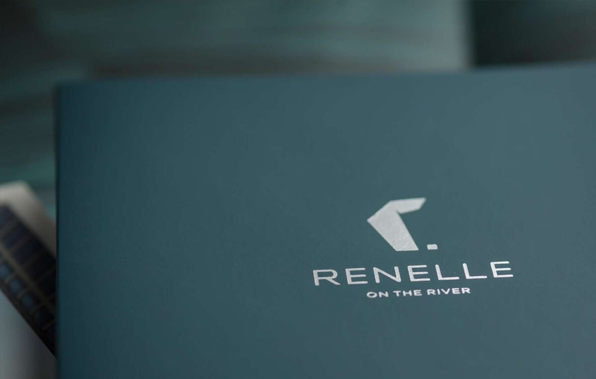 Print collateral kit design for Renelle on the River