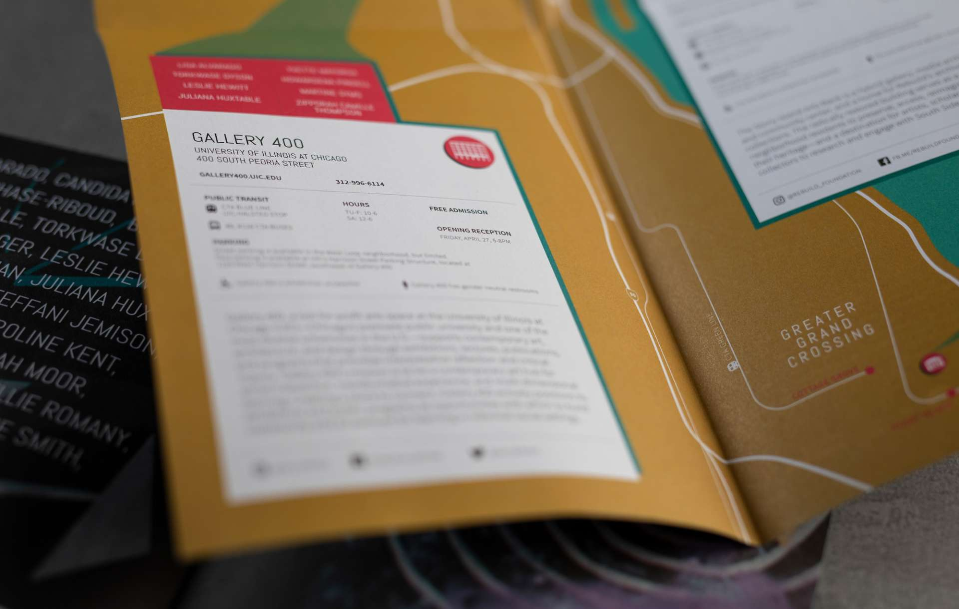 Printed catalogue design for Out of Easy Reach exhibit