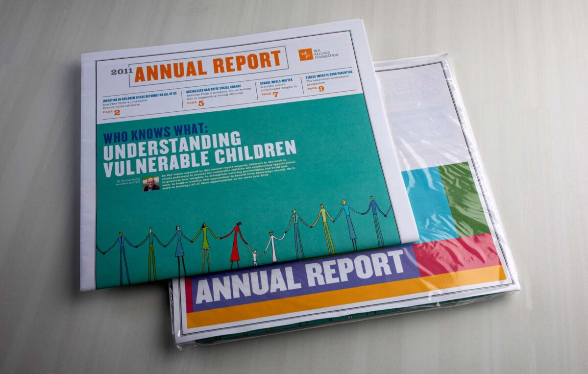 Annual report designed for nonprofit WK Kellogg Foundation