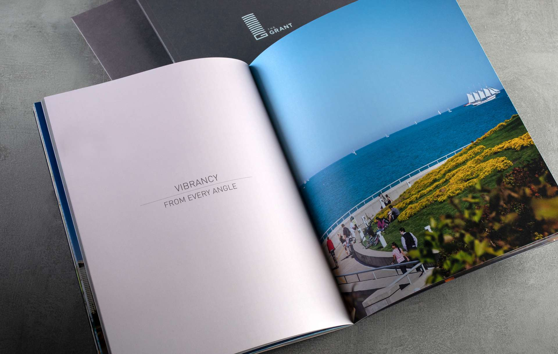 Real estate branding print collateral kit design for real estate brand South Loop Luxury by Related