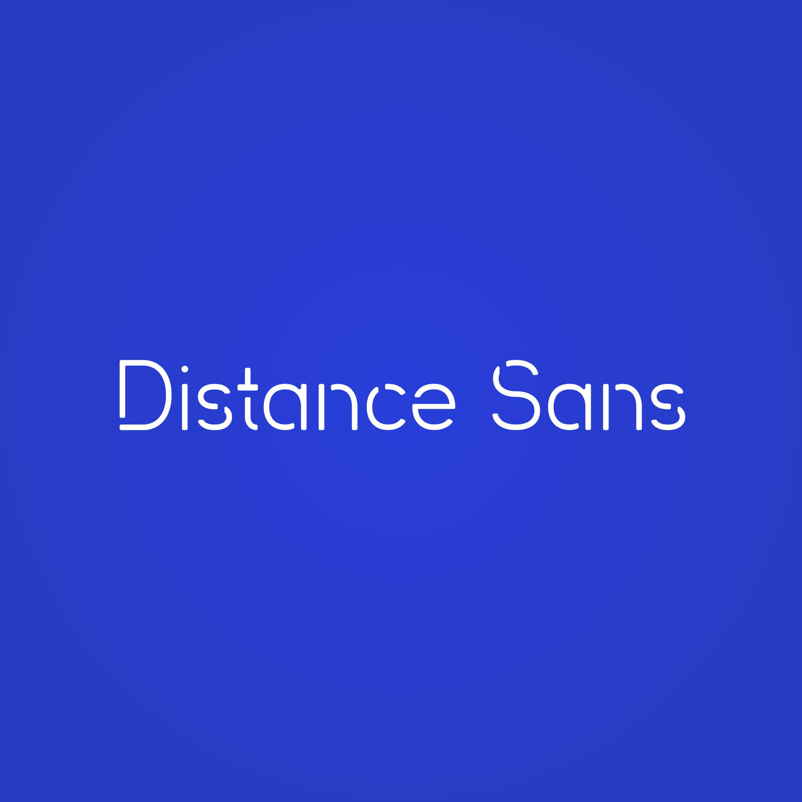 Distance Sans typeface