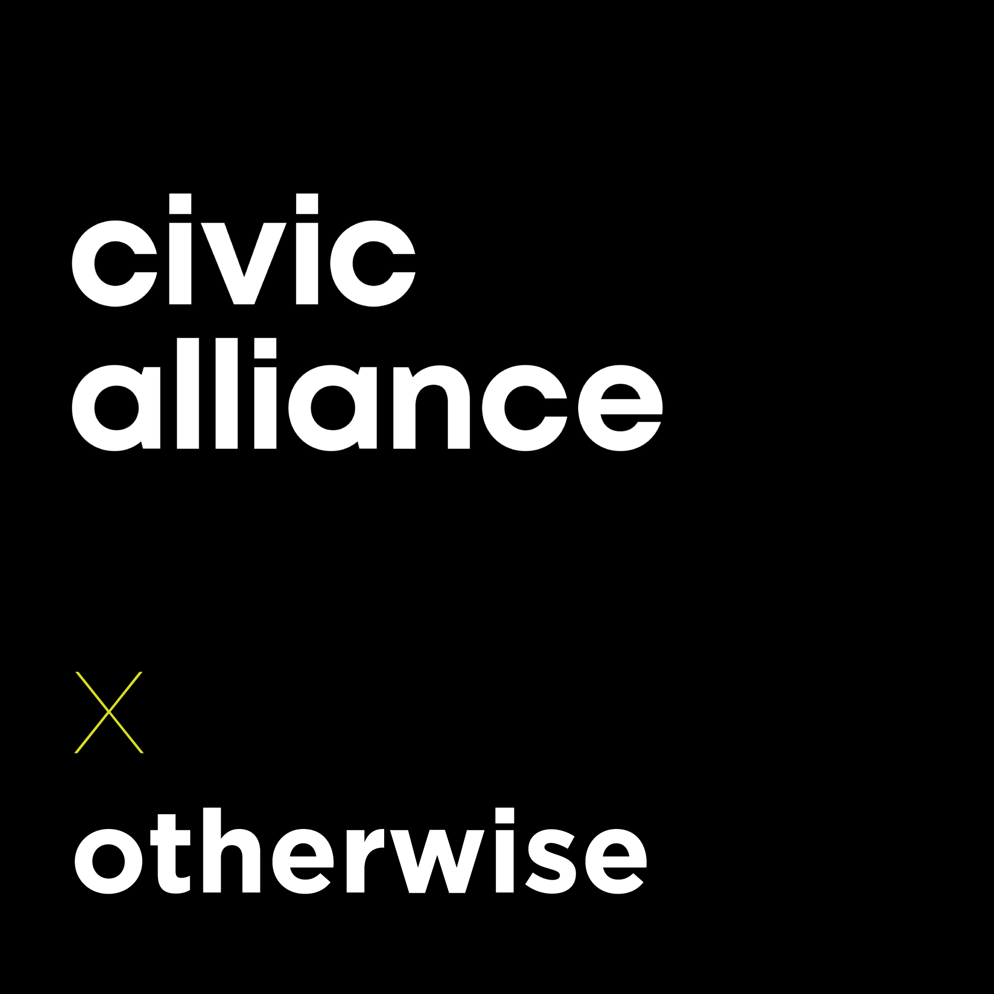 Graphic reads Civic Alliance x Otherwise
