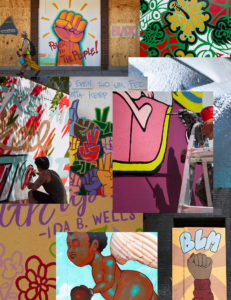 Collage of murals